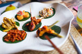 Variety of traditional Bali appetizers — Stock Photo