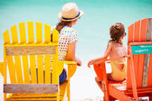 Mother and daughter on Caribbean vacation — Stock Photo