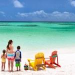 Family on beach vacation — Stock Photo #50236413
