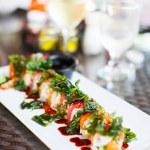 Japanese cuisine sushi rolls — Stock Photo #50236577