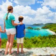 Family at Trunk bay on St John island — Stock Photo #50236631