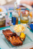 Grilled pork ribs — Stock Photo