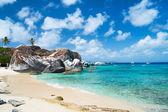 Beautiful tropical beach at Caribbean — Stock Photo