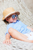 Little girl in hammock — Stock Photo