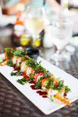 Japanese cuisine sushi rolls — Stock Photo
