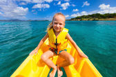 Little girl in kayak — ストック写真