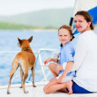 Family sailing on a luxury yacht — Stock Photo #50624357