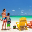 Family on beach vacation — Stock Photo #50624455