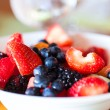 Breakfast with fresh fruits — Stock Photo #50624459
