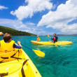 Family kayaking at tropical ocean — Stock Photo #50624605
