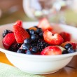 Breakfast with fresh fruits — Stock Photo #51037355