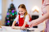 Family baking on Christmas eve — Stock Photo