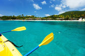 Kayaking at tropical ocean  — Stock Photo