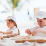 Kids making pizza — Stock Photo #51414031