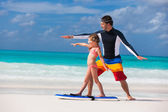 Family beach vacation — Stock Photo