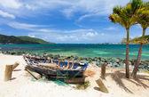 Beautiful tropical coast at Caribbean — Foto Stock