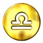 3D Golden Libra Zodiac Sign — Stock Photo #1224646
