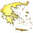 Greece 3d Golden Map — Stock Photo