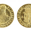 Elizabeth I Gold Sovereign — Stock Photo