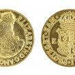 Elizabeth I Gold Sovereign - Stock Photo