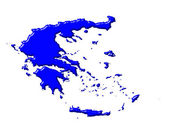Greece 3d map with national color — Stock Photo