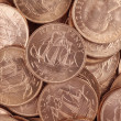 Stock Photo: Uncirculated British Half Pennies