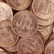 Uncirculated British Half Pennies — Stock Photo