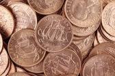 Uncirculated British Half Pennies — Stock Photo
