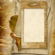 Vintage background with old photo frame — Stock Photo #13314272