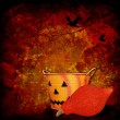 Halloween background with pumpkins — Stock Photo