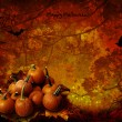 Stock Photo: Halloween background with pumpkins