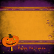 Halloween greeting card. — Stock Photo