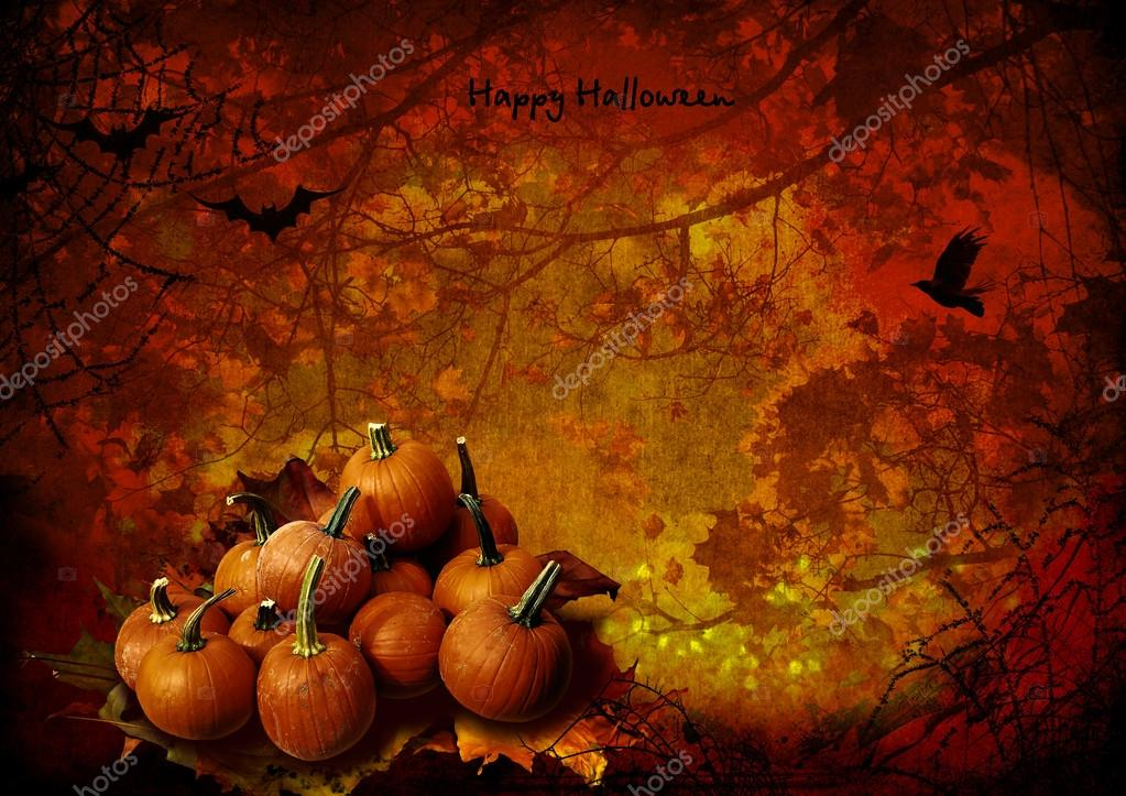 Halloween background with pumpkins  Stock Photo #13498723