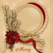 Vintage christmas card — Stock Photo