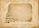 复古圣诞贺卡 — 图库照片