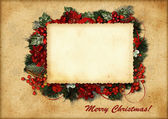 Vintage christmas card — Stockfoto