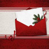 Vánoční přání s obálkou — Stock fotografie
