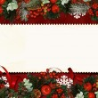 Vintage Christmas card with space for text or photo — Stock Photo
