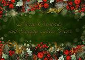Tarjeta de felicitación de navidad vintage — Foto de Stock