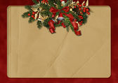 Vintage Christmas background with space for text or photo — Stock Photo