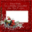 Stock Photo: Christmas background with card and warm wishes