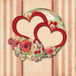 Vintage valentine background  with gorgeous frame — Stock Photo