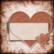 Vintage background with frame and  heart — Foto Stock