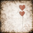 Grunge  background with paper heart - Stok fotoraf