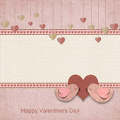 Happy Valentines Day. Background with space for text or photo — Foto de Stock