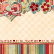 Vintage Valentine's Day Card - Foto de Stock