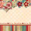 Vintage Valentine's Day Card — ストック写真