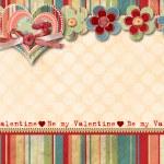 Vintage Valentine's Day Card — Stock Photo