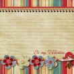 Retro Valentines day card — Stock Photo