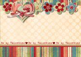 Vintage Valentine's Day Card — Foto de Stock